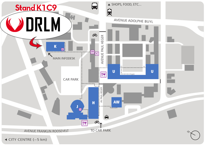 MAP OF THE LOCATION OF THE DRLM'S STAND